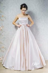 PL-1607 Атласное платье, с карманами