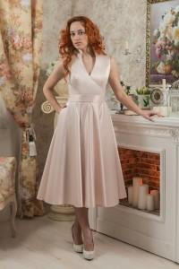 PL-5001 Платье с воротником-стойкой